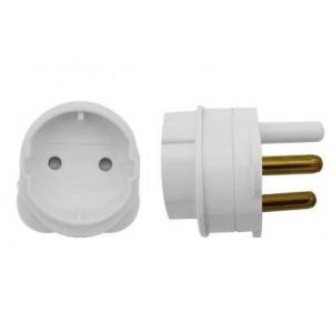 Scoop EUR-SCH 2-Pin Schuko to 16A 3-Pin Adaptor