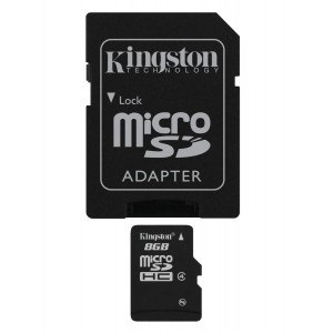 Kingston 8 GB MicroSDHC Class 4 Flash Memory Card