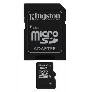 Kingston 8 GB MicroSDHC Class 4 Flash Memory Card