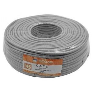 Scoop UTP-6100C 100m Roll Cat6 CCA UTP Cable