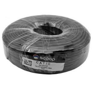 Scoop TC-100C 100m Roll Cat5e Outdoor FTP CCA Cable