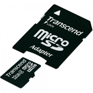 Transcend 32GB Class 4 MicroSDHC Flash Memory Card