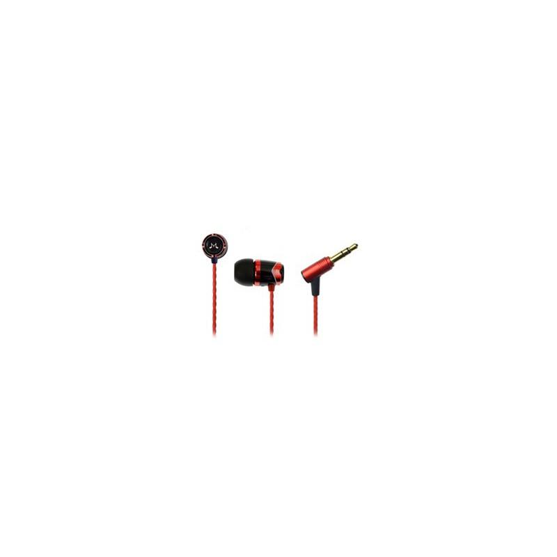Hamrad E10 In Ear Isolating Earphones ,Black&Red Colour