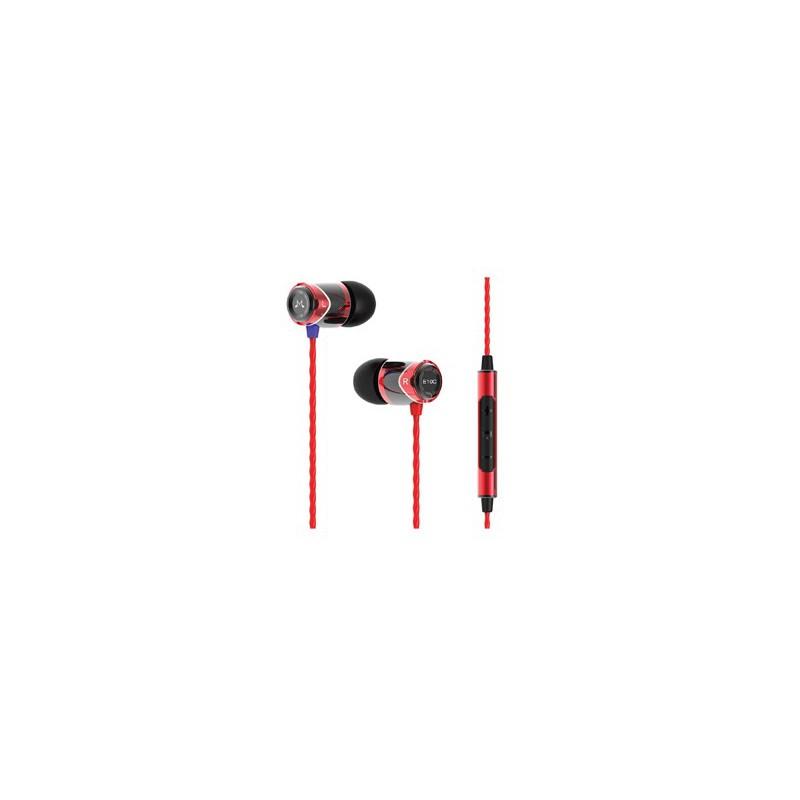 Sound Magic E10C In Ear isolating Earphones,Black&Red Colour