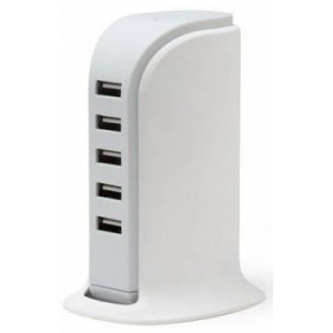 Polaroid PUSB5 White 5 Port USB Charger