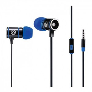Amplify AMP-1004-BKBL Pro Load Series Black and Blue Earphones with Mic