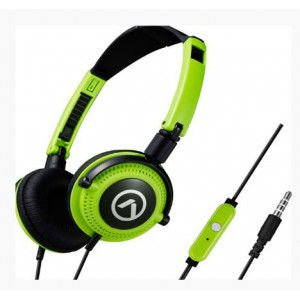Amplify AM2005BKG Symphony Headphones with Mic Black and Green