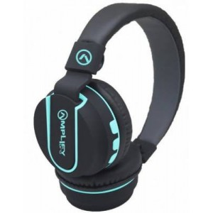 Amplify AMP2011BKBL Pro Fusion Series Black and Blue Bluetooth Headphone