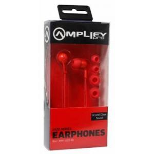 Amplify AMP-1002-RD Pro Jazz Series In-ear Red Earphones