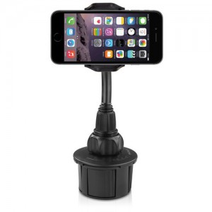 Macally MCUPXL Adjustable Car Cup Holder for iPhone/ Smartphone  - XL long neck
