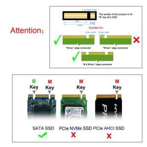 "NGFF M.2 SSD to 2.5"" SATA 3 Converter"
