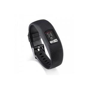 Tuff-Luv J1_40 Silicone Gel Watch Strap for Garmin Vivofit 4 Strap - Black (Small)