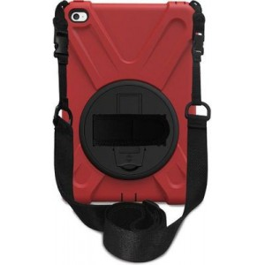 Tuff-Luv C7_41 Rugged Armour Case and Stand with Strap for Apple iPad Mini 4 - Red