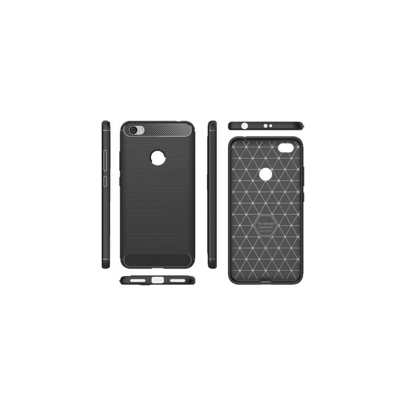 uk availability d5ba9 e3841 Tuff-Luv A1_154 Xiaomi Redmi Note 5A Carbon Fibre Style Shockproof and  Rugged Case - Black