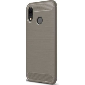 Tuff-Luv J13_60 Brushed Texture Carbon Fibre Effect Shockproof TPU for Huawei P20 Lite - Grey