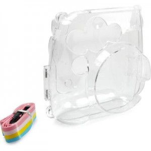 Tuff-Luv H5_42 Plastic Case with Rainbow Strap for Instax Mini 8