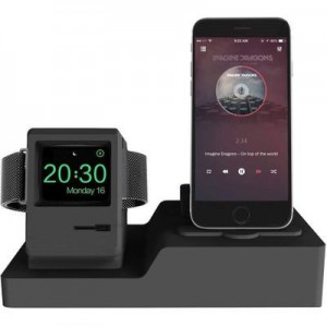 TUFF-LUV - 3 IN Charge Station for Apple Watch/Apple iPhone and Apple EarPods - Black