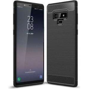 Tuff-Luv A1_204 Carbon Fibre Style Shockproof Cover for Samsung Galaxy Note 9 - Black