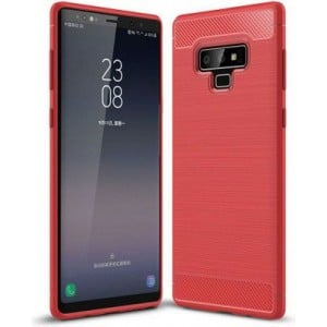 Tuff-Luv A1_205 Carbon Fibre Style Shockproof Cover for Samsung Galaxy Note 9 - Red