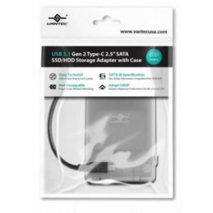 "Vantec VANTEC CB-STC31-2PB STOR ADP USB 3.1 Gen 2 Type-C 2.5"" SATA SSD/HDD Storage Adapter"