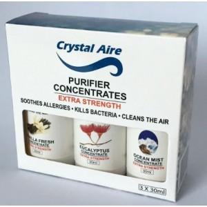 Crystal Aire C002 - Eucalyptus Ocean Mist and Vanilla 3 Pack