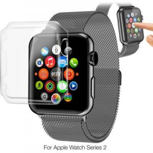 Tuff-Luv 3WAT2GINVISIPACK42 Orzly InvisiCase 3-in-1 Pack for Apple Watch Series 2