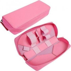 Tuff-Luv A733 E-Cig Vape-Pen Mod Luxury Travel Case and Refill Holder - Pink