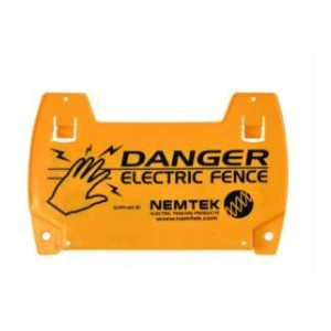 Nemtek EF43-2 Warning Sign Electric Fence – Large