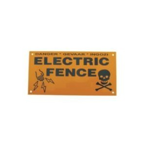 Warning Sign EF43-1 – Small Double Sided
