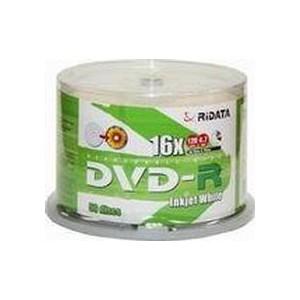 Ridata DVD-R, 4.7GB, 16x, fullface printable - 50 Disc Pack