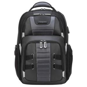 "Targus TSB956GL DrifterTrek 11.6-15.6"" Laptop Backpack with USB Power Pass-Thru - Black"