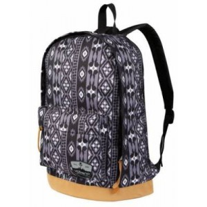 Volkano VK-7042-GRD Suede Series Ethnic Pattern Dark Grey Backpack