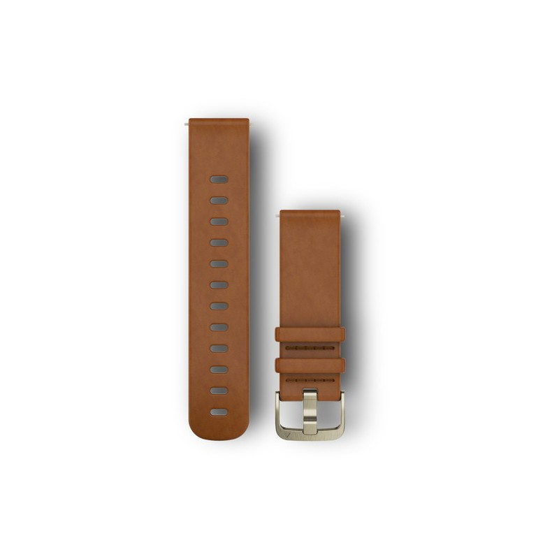 Garmin Quick release band, Light Brown leather band (vivomove HR, vivoactive 3, FR 645/645M)