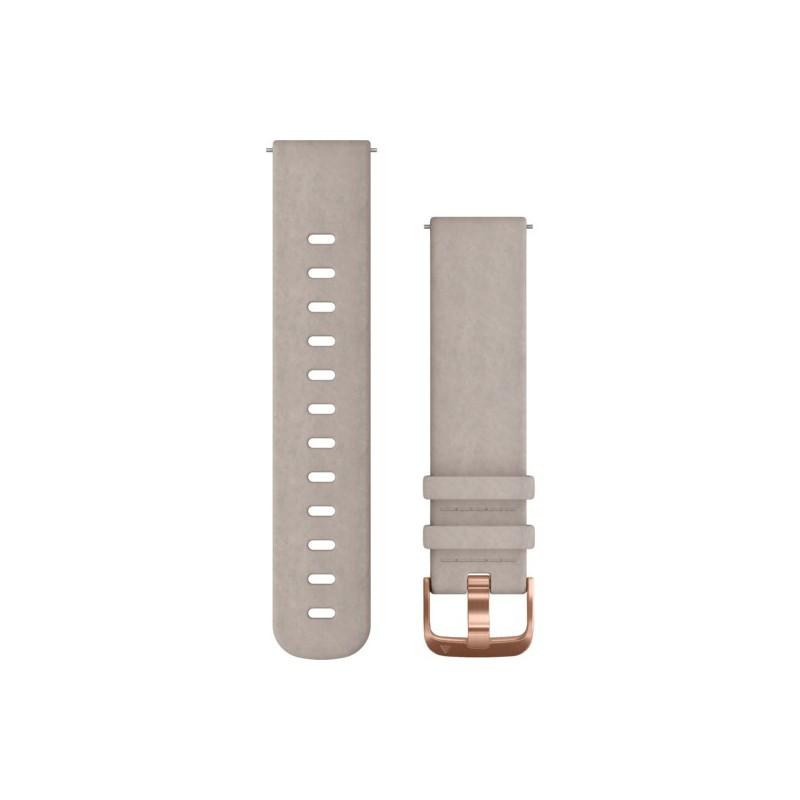 Garmin Quick release band, Grey Leather One-size (vivomove HR, vivomove HR/vivoactive 3, FR 645/645M)