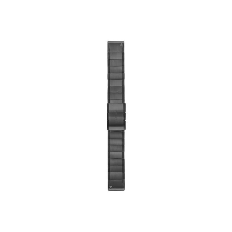 Garmin QuickFit 22mm Carbon Grey DLC Titanium band