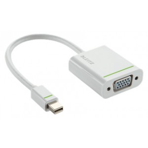 Leitz 63090001 Complete Mini DisplayPort to VGA Adapter - White