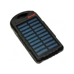 Zartek ZA-340 SOLAR USB Powerbank with LED Worklight, 4000mAH, 2 x USB, 250 Lumen