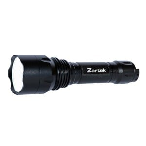 Zartek ZA-458 Extreme Bright Flashlight, LED, 900lm, Heavy-Duty, Aluminium, Back Switch, Rechargeable