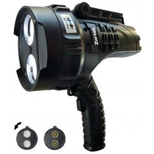 Zartek ZA-467-F Mega Bright Spotlight, 2 x XHP50 LED, 2200lm, Rechargeable, Mains & VehicleCharger