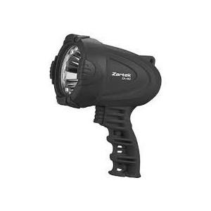 Zartek ZA-462 Spotlight,LED,180lm,Rechargeable,Mains & vehicle charger,Heavy Duty, Rubber Lense Protector