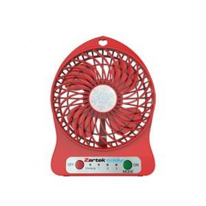 Zartek ZA-100-RED Breez Rechargeable Mini Fan–Red,Portable,USB Rechargeable