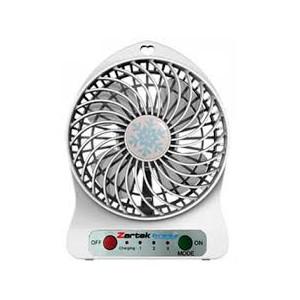 Zartek ZA-100-WHT Breez Rechargeable Mini Fan–White,Portable,USB Rechargeable