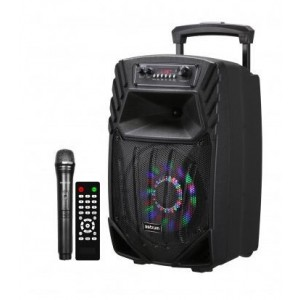 Astrum A14085-B 40W Smart Trolley Multimedia Speaker + App / Tweeters / BT / USB / TF / FM - Black