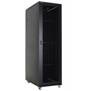 Linkbasic 42U 1M Deep Cabinet 4 Fans 3 Shelves & Perforated Steel Doors