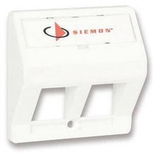 Siemon T50-02 TERA-MAX Faceplate 2 Port - White