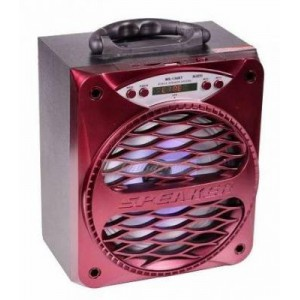 Microworld MS-136-BT-R Portable Speaker - Red