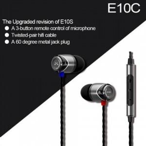 Sound Magic E10C In Ear isolating Earphones, Black & Gunmetal Colour