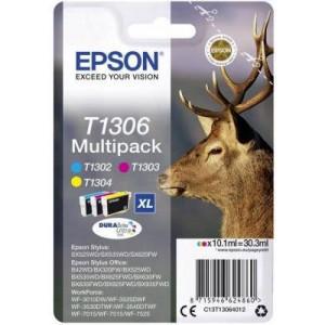 Epson ET13064012 Stag Multipack Ink Cartridges - No Black