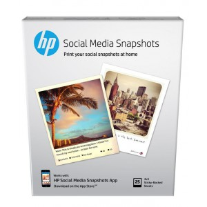 HP HW2G60A Social Media Snapshots 10 X 13CM (25 Sheets)
